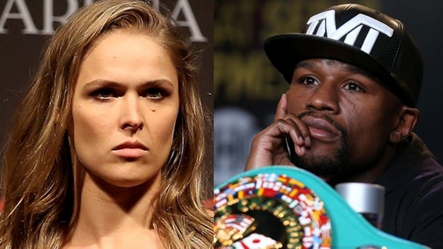 Ronda Rousey and Floyd Mayweather Jr. (Photos: Getty Images)