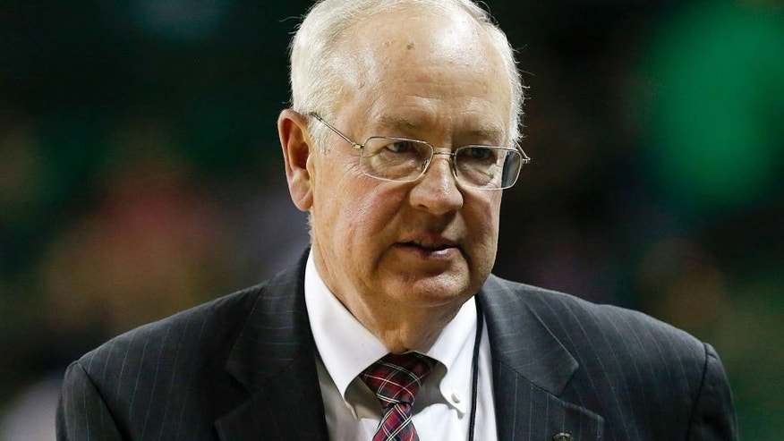 Dec 9, 2014; Waco, TX, USA; Baylor Bears president Ken Starr during the game against the Texas A&M Aggies at Ferrell Center. Mandatory Credit: Kevin Jairaj-USA TODAY Sports