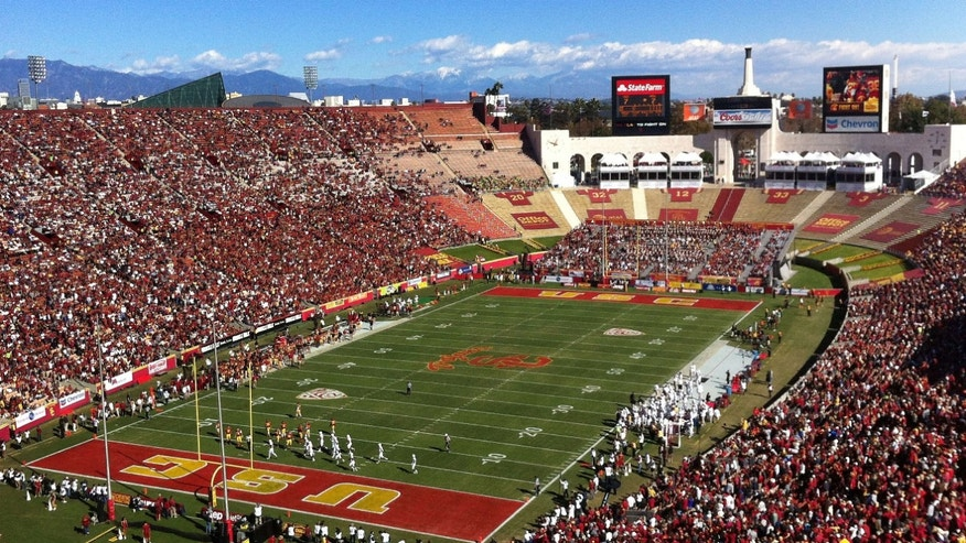Nov. 11, 2012: Southern California pays against Arizona State in an NCAA college football game at Los Angeles Memorial Coliseum.
