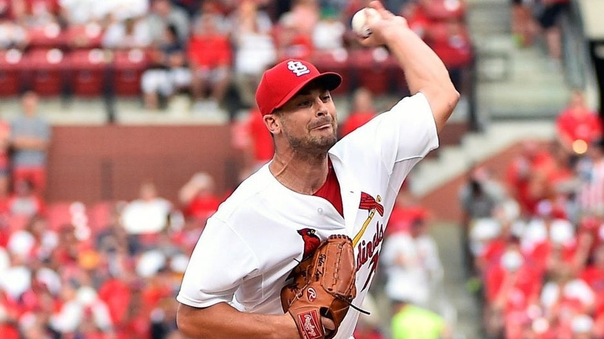 Aug 13, 2015; St. Louis, MO, USA; St. Louis Cardinals starting pitcher Tyler Lyons (70) pitches in the first inning against the Pittsburgh Pirates at Busch Stadium. Mandatory Credit: Jasen Vinlove-USA TODAY Sports
