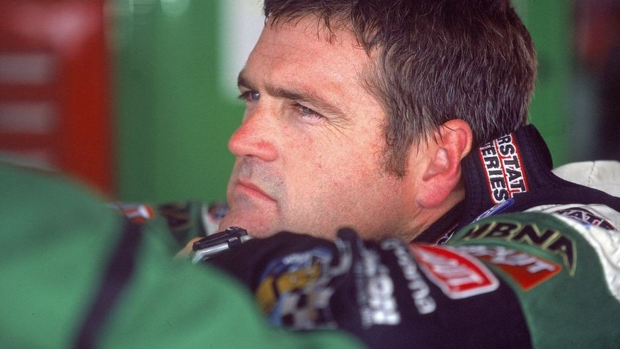 1 Sep 2000: A view of Bobby Labonte in a contemplative mood during the Dura Lube 200, part of the NASCAR Winston Cup Series at the Darlingotn Raceway in Darlington, SOuth Carolina.Mandatory Credit: Craig Jones /Allsport