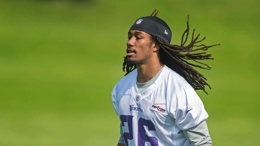 Wednesday, May 27: Minnesota Vikings cornerback Trae Waynes runs before drills at Winter Park.