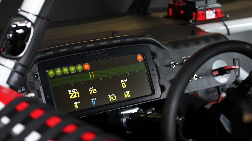 DARLINGTON, SC - SEPTEMBER 04: A view of the digital dashboard seen in the car of Kurt Busch, driver of the #41 Haas Automation Chevrolet, during practice for the NASCAR Sprint Cup Series Bojangles' Southern 500 at Darlington Raceway on September 4, 2015 in Darlington, South Carolina. (Photo by Sarah Crabill/NASCAR via Getty Images)
