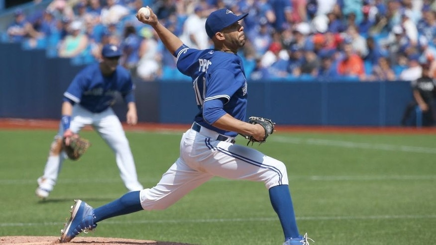 TORONTO, CANADA - SEPTEMBER 5: David Price #14 of the Toronto Blue Jays pitches in the fourth inning during MLB game action against the Baltimore Orioles on September 5, 2015 at Rogers Centre in Toronto, Ontario, Canada. (Photo by Tom Szczerbowski/Getty Images)