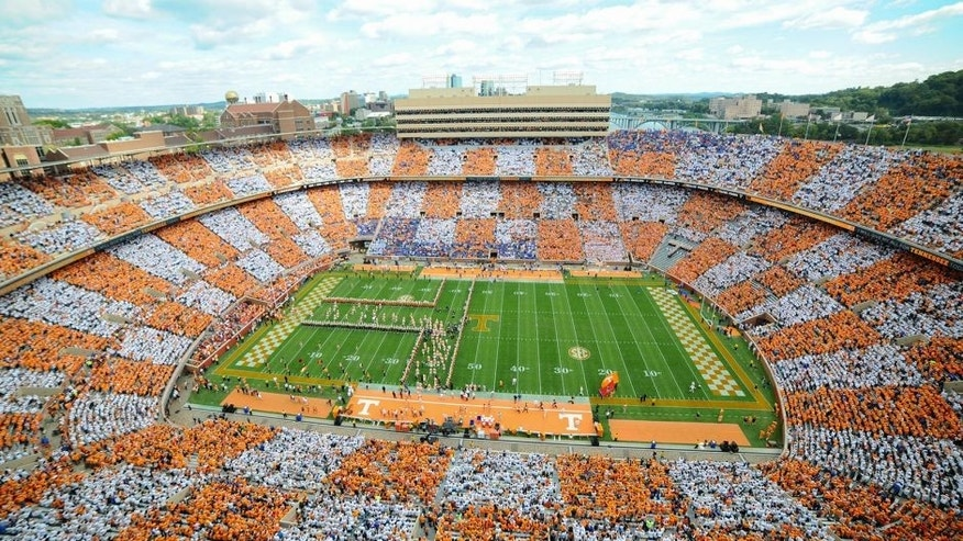 Oct 4, 2014; Knoxville, TN, USA; A general view of Neyland Stadium prior to the game against the Florida Gators and Tennessee Volunteers. Mandatory Credit: Randy Sartin-USA TODAY Sports