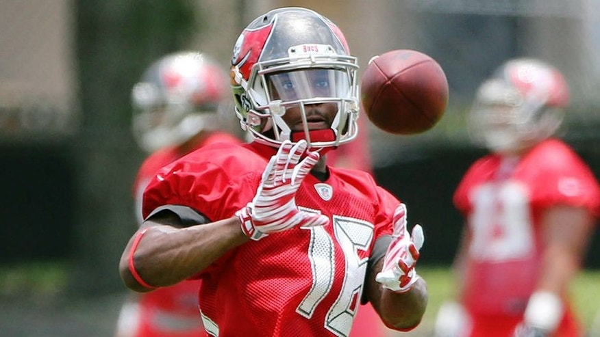 Jun 16, 2015; Tampa Bay, FL, USA; Tampa Bay Buccaneers wide receiver Rannell Hall (16) during minicamp at One Buc Place. Mandatory Credit: Kim Klement-USA TODAY Sports