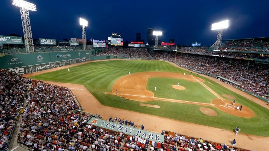 May 4, 2015; Boston, MA, USA; A general view of Fenway Park during the third inning of the game between the Tampa Bay Rays and the Boston Red Sox. Mandatory Credit: Greg M. Cooper-USA TODAY Sports