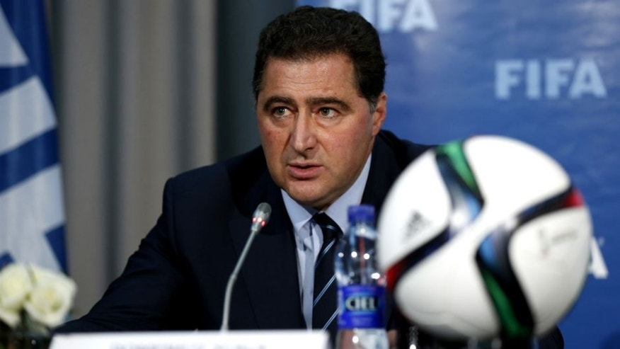 MARRAKECH, MOROCCO - DECEMBER 19: The FIFA Chairman of Audit and Compliance Domenico Scala talks to the media during a FIFA press conference at the Sofitel Marrekch on December 19, 2014 in Marrakech, Morocco. (Photo by Steve Bardens/Getty Images)