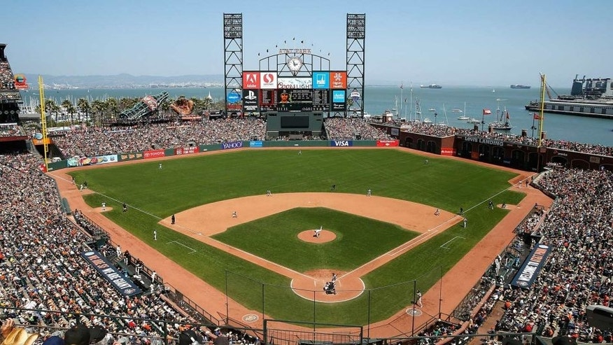 SAN FRANCISCO, CA - JULY 26: A general view of play in the sixth inning between the Oakland Athletics and San Francisco Giants at AT&T Park on July 26, 2015 in San Francisco, California. (Photo by Lachlan Cunningham/Getty Images)