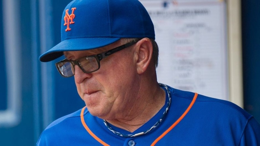 Sep 2, 2013; Atlanta, GA, USA; New York Mets pitching coach Dan Warthen (59) in the dugout against the Atlanta Braves during the 7th inning at Turner Field. The Braves won 13-5. Mandatory Credit: Kevin Liles-USA TODAY Sports