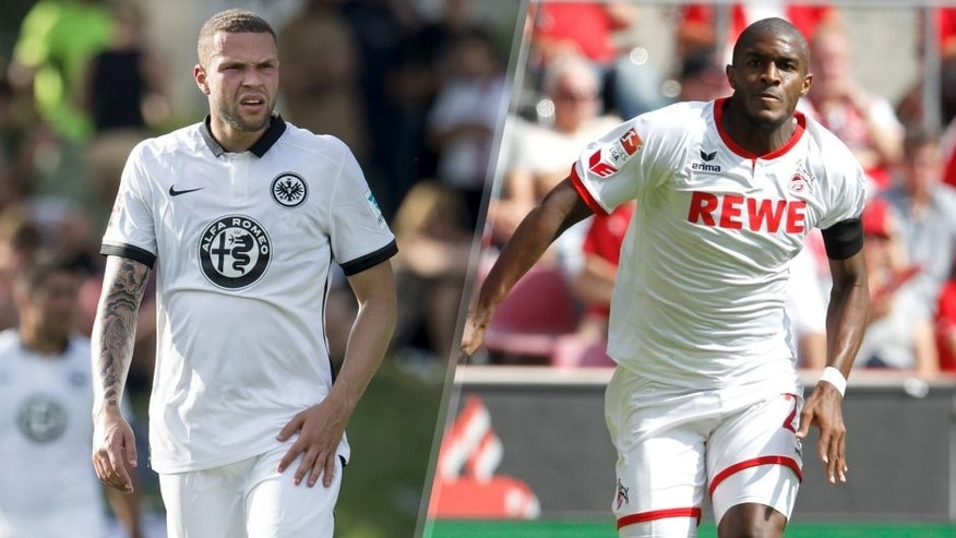 Luc Castaignos of Eintracht Frankfurt during the friendly match between Eintracht Frankfurt and Wacker Innsbruck on July 7, 2015 at Keratin, Austria.(Photo by VI Images via Getty Images) COLOGNE, GERMANY - AUGUST 22: Anthony Modeste of Cologne runs with the ball during the Bundesliga match between 1. FC Koeln and VfL Wolfsburg at RheinEnergieStadion on August 22, 2015 in Cologne, Germany. (Photo by Mika Volkmann/Bongarts/Getty Images)