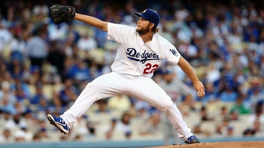 LOS ANGELES, CA - JULY 03: Clayton Kershaw #22 of the Los Angeles Dodgers throws a pitch against the New York Mets at Dodger Stadium on July 3, 2015 in Los Angeles, California. (Photo by Stephen Dunn/Getty Images)