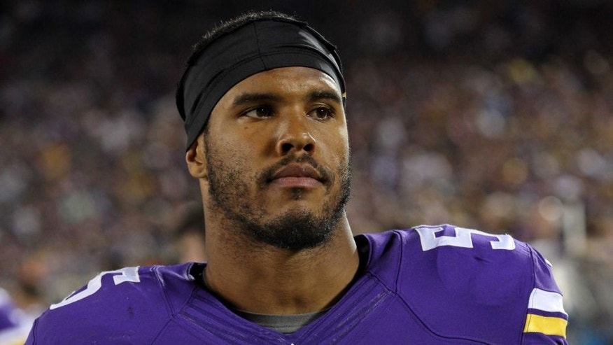 <p>Aug 8, 2014; Minneapolis, MN, USA; Minnesota Vikings linebacker Anthony Barr (55) against the Oakland Raiders at TCF Bank Stadium. The Vikings defeated the Raiders 10-6. Mandatory Credit: Brace Hemmelgarn-USA TODAY Sports</p>