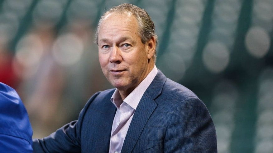 Apr 3, 2015; Houston, TX, USA; Houston Astros owner Jim Crane before a game against the Kansas City Royals at Minute Maid Park. Mandatory Credit: Troy Taormina-USA TODAY Sports