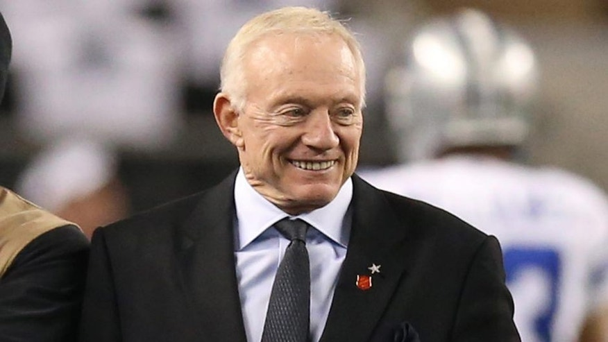 <p>Image: Dallas Cowboys owner Jerry Jones (Matthew Emmons/USA TODAY Sports)</p>
