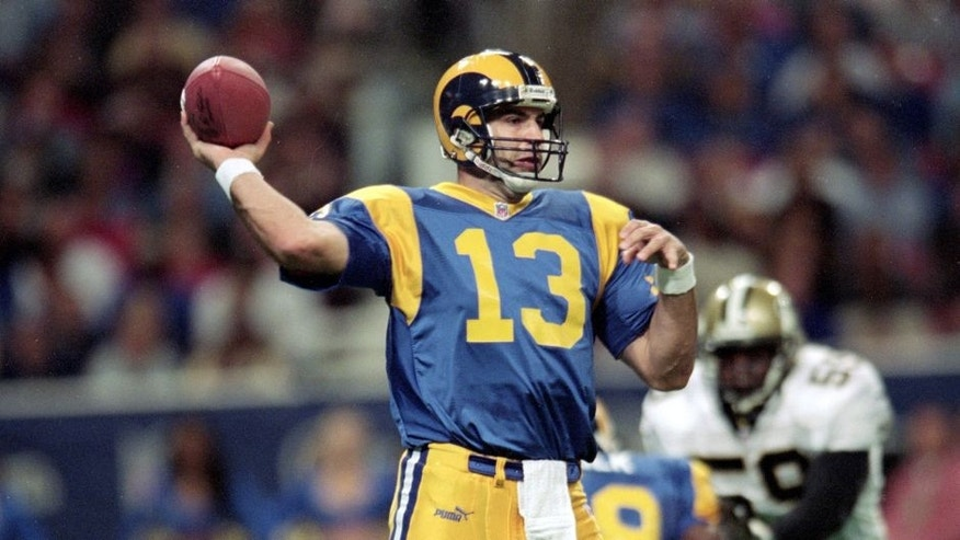 28 Nov 1999: Kurt Warner #13 of the St. Louis Rams passes the ball during a game against the New Orleans Saints at the Trans World Dome in St. Louis, Missouri. The Rams defeated the Saints 43-12. Mandatory Credit: Elsa Hasch /Allsport