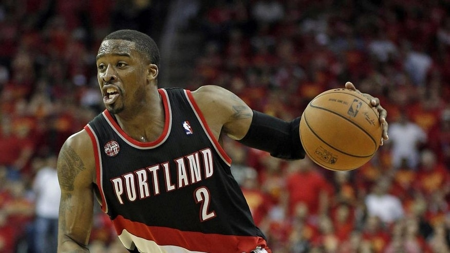 Apr 30, 2014; Houston, TX, USA; Portland Trail Blazers guard Wesley Matthews (2) drives to the basket during the fourth quarter against the Houston Rockets in game five of the first round of the 2014 NBA Playoffs at Toyota Center. Mandatory Credit: Andrew Richardson-USA TODAY Sports