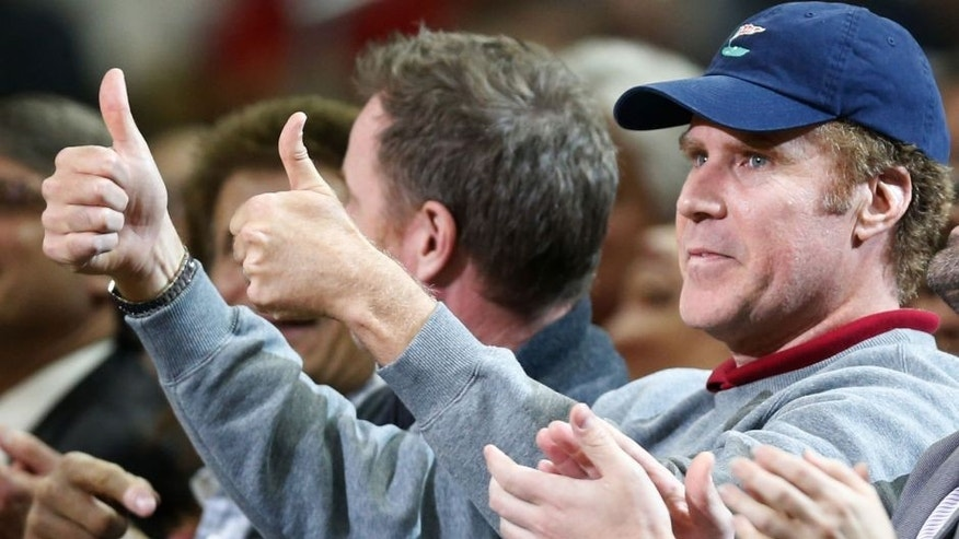 Mar 26, 2014; New Orleans, LA, USA; Entertainer Will Ferrell watches courtside during the first half of a game between the New Orleans Pelicans and the Los Angeles Clippers at the Smoothie King Center. Mandatory Credit: Derick E. Hingle-USA TODAY Sports