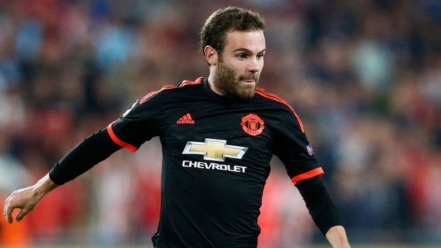 EINDHOVEN, NETHERLANDS - SEPTEMBER 15: Juan Mata of Manchester United in action during the UEFA Champions League Group B match between PSV Eindhoven and Manchester United at PSV Stadion on September 15, 2015 in Eindhoven, Netherlands. (Photo by Dean Mouhtaropoulos/Getty Images)