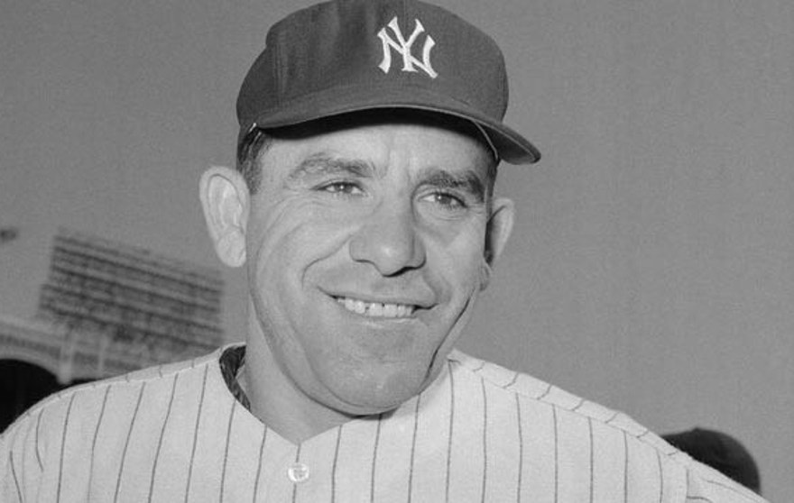 This undated photo shows New York Yankees catcher Yogi Berra. Berra, who won 10 World Series titles as a player, all with the Bronx Bombers, died on Tuesday, Sept. 22, 2015. (File/AP)