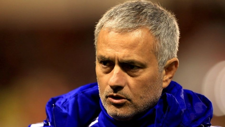 WALSALL, ENGLAND - SEPTEMBER 23: Jose Mourinho manager of Chelsea looks on prior to the Capital One Cup third round match between Walsall and Chelsea at Banks's Stadium on September 23, 2015 in Walsall, England. (Photo by Matthew Lewis/Getty Images)