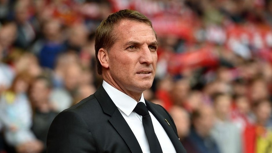 LIVERPOOL, ENGLAND - SEPTEMBER 26: (THE SUN OUT THE SUN ON SUNDAY OUT) Brendan Rodgers manager of Liverpool before the Barclays Premier League match between Liverpool and Aston Villa on September 26, 2015 in Liverpool, United Kingdom. (Photo by John Powell/Liverpool FC via Getty Images)