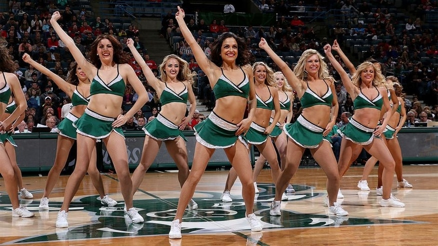 MILWAUKEE, WI - APRIL 4: Cheerleaders perform during the game between the Orlando Magic and Milwaukee Bucks on April 4, 2015 at the BMO Harris Bradley Center in Milwaukee, February. NOTE TO USER: User expressly acknowledges and agrees that, by downloading and or using this Photograph, user is consenting to the terms and conditions of the Getty Images License Agreement. Mandatory Copyright Notice: Copyright 2015 NBAE (Photo by Gary Dineen/NBAE via Getty Images)