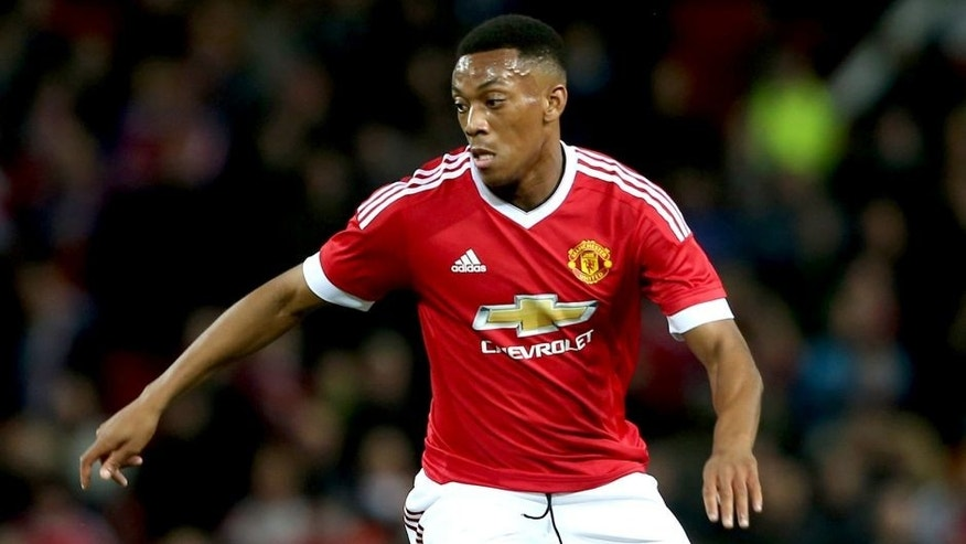 MANCHESTER, ENGLAND - SEPTEMBER 23: Anthony Martial of Manchester United in action during the Capital One Cup Third Round match between Manchester United and Ipswich Town at Old Trafford on September 23, 2015 in Manchester, England. (Photo by John Peters/Man Utd via Getty Images)