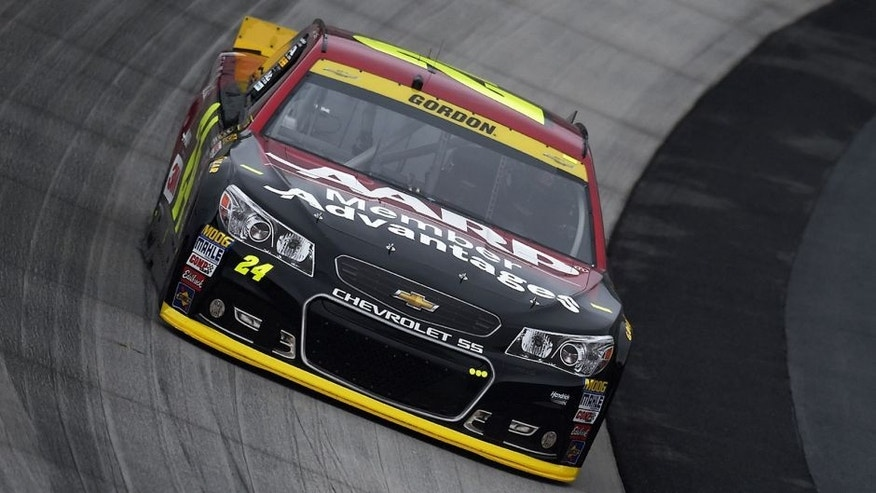 DOVER, DE - OCTOBER 03: Jeff Gordon, driver of the #24 AARP Member Advantages Chevrolet, drives during practice for the NASCAR Sprint Cup Series AAA 400 at Dover International Speedway on October 3, 2015 in Dover, Delaware. (Photo by Rainier Ehrhardt/NASCAR via Getty Images)