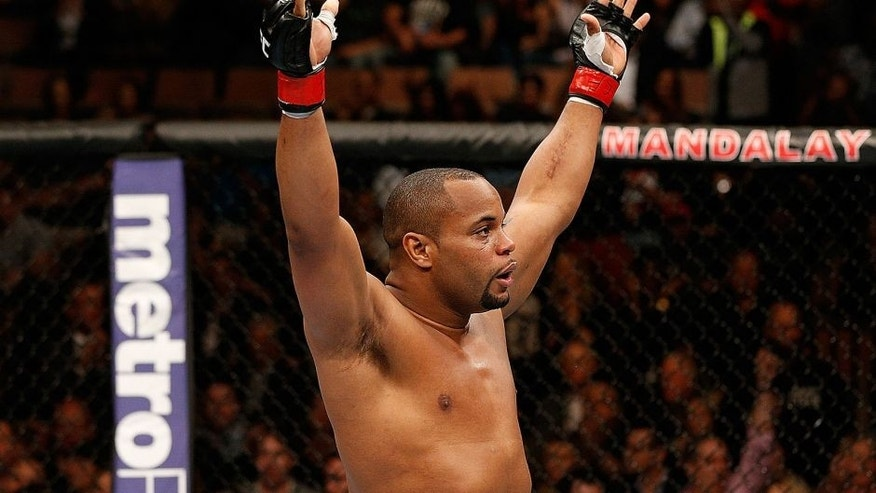 LAS VEGAS, NV - FEBRUARY 22: Daniel Cormier reacts to his victory over Patrick Cummins in their light heavyweight bout during UFC 170 inside the Mandalay Bay Events Center on February 22, 2014 in Las Vegas, Nevada. (Photo by Josh Hedges/Zuffa LLC/Zuffa LLC via Getty Images)