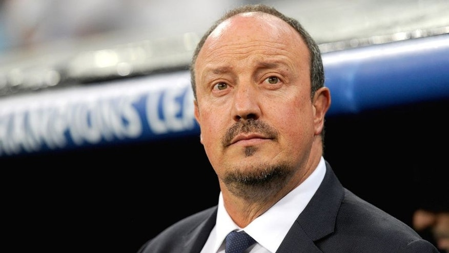 MADRID, SPAIN - SEPTEMBER 15: Head coach Rafa Benitez of Real Madrid looks on during the UEFA Champions League Group A match between Real Madrid and Shakhtar Donetsk at estadio Santiago Bernabeu on September 15, 2015 in Madrid, Spain. (Photo by Denis Doyle/Getty Images)