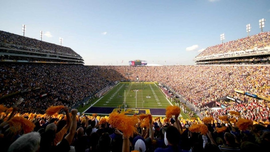 November 20, 2010; Baton Rouge, LA, USA; A general view from the endzone prior to kickoff of a game between the LSU Tigers and the Mississippi Rebels at Tiger Stadium. Mandatory Credit: Derick E. Hingle-USA TODAY Sports