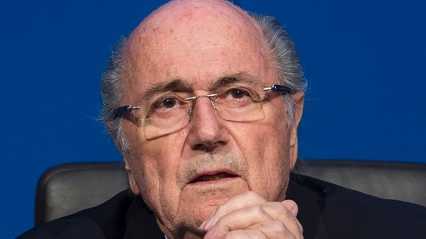 July 20, 2015: FIFA president Sepp  Blatter speaks during a news  conference at the FIFA headquarters in Zurich, Switzerland.