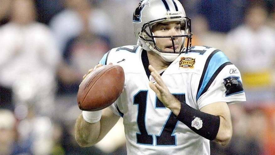 <p>In Super Bowl XXXVIII, Carolina Panthers quarterback Jake Delhomme completed the longest pass in Super Bowl history to receiver Muhsin Muhammad.</p>