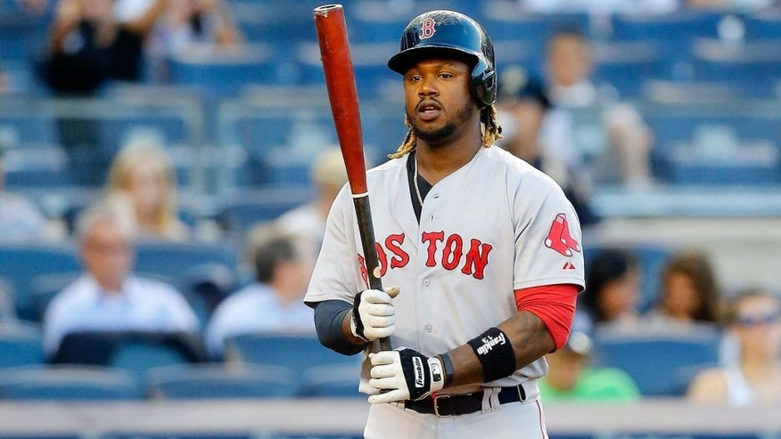 NEW YORK, NY - AUGUST 04: Hanley Ramirez #13 of the Boston Red Sox in action against the New York Yankees at Yankee Stadium on August 4, 2015 in the Bronx borough of New York City. The Yankees defeated the Red Sox 13-3. (Photo by Jim McIsaac/Getty Images)