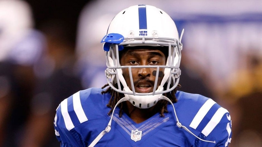 Sep 21, 2015; Indianapolis, IN, USA; Indianapolis Colts wide receiver T.Y. Hilton (13) warms up before the game against the New York Jets at Lucas Oil Stadium. Mandatory Credit: Brian Spurlock-USA TODAY Sports