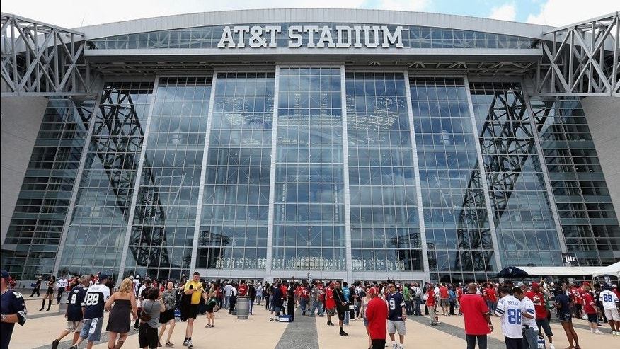 ARLINGTON, TX - SEPTEMBER 07: General view outside of AT&T Stadium before the NFL game between the San Francisco 49ers and the Dallas Cowboys on September 7, 2014 in Arlington, Texas. The 49ers defeated the Cowboys 28-17. (Photo by Christian Petersen/Getty Images)