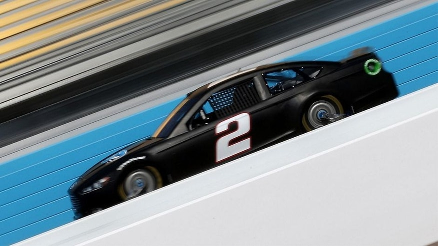 AVONDALE, AZ - OCTOBER 14: Brad Keselowski, driver of the #2 Miller Lite Ford, during testing for the NASCAR Sprint Cup Series at Phoenix International Raceway on October 14, 2015 in Avondale, Arizona. (Photo by Chris Graythen/NASCAR via Getty Images)