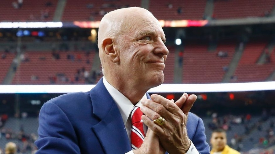 Dec 21, 2014; Houston, TX, USA; Houston Texans owner Bob McNair after the game against the Baltimore Ravens at NRG Stadium. Mandatory Credit: Kevin Jairaj-USA TODAY Sports