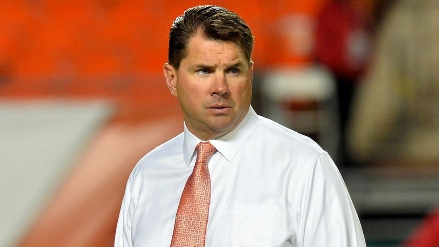 Nov 29, 2014; Miami Gardens, FL, USA; Miami Hurricanes head coach Al Golden prior to a game against Pittsburgh Panthers at Sun Life Stadium. Mandatory Credit: Steve Mitchell-USA TODAY Sports