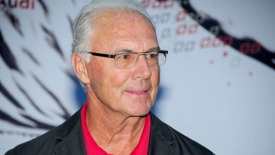 "SHANGHAI, CHINA - JULY 19: (CHINA OUT) Franz Beckenbauer, Germany's popular soccer player, coach and manager ever, known as the ""Kaiser"", visits Youth Training Camp during Audi Summer Tour China 2015 on July 19, 2015 in Shanghai, China. (Photo by ChinaFotoPress/ChinaFotoPress via Getty Images)"