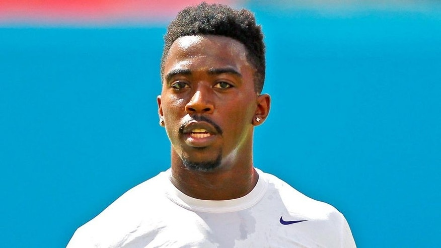 Oct 6, 2013; Miami Gardens, FL, USA; Baltimore Ravens quarterback Tyrod Taylor before a game against the Miami Dolphins at Sun Life Stadium. Mandatory Credit: Robert Mayer-USA TODAY Sports