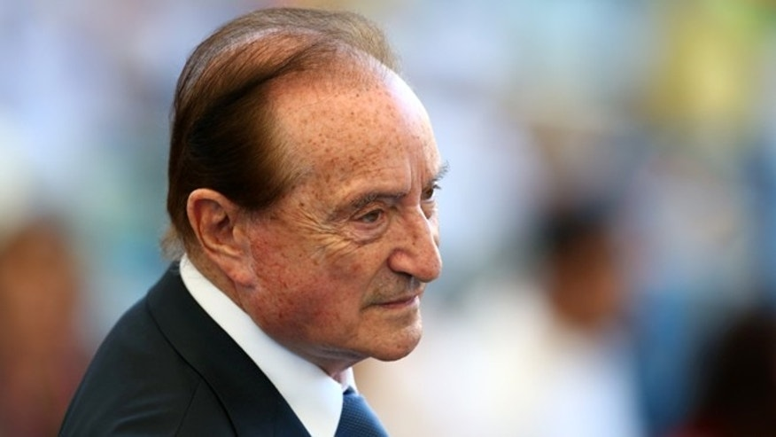 Eugenio Figueredo, former President of Conmebol, during the 2014 FIFA World Cup.