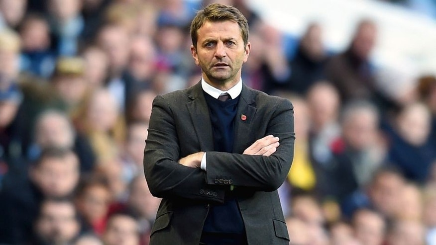 BIRMINGHAM, ENGLAND - OCTOBER 24: Tim Sherwood Manager of Aston Villa looks on during the Barclays Premier League match between Aston Villa and Swansea City at Villa Park on October 24, 2015 in Birmingham, England. (Photo by Michael Regan/Getty Images)