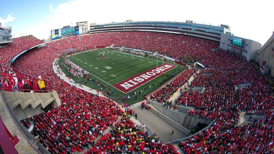 Oct 3, 2015; Madison, WI, USA; Overall view of Camp Randall Stadium during the third quarter of the game between the Iowa Hawkeyes and Wisconsin Badgers. Iowa won 10-6. Mandatory Credit: Jeff Hanisch-USA TODAY Sports