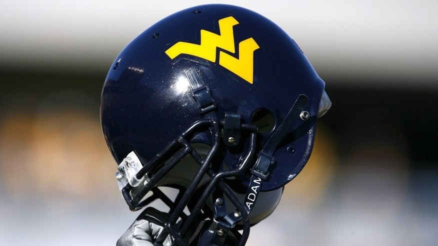 MORGANTOWN, WV - NOVEMBER 25: West Virginia Mountaineers helmet during a game against the South Florida Bulls at Milan Puskar Stadium on November 25, 2006 in Morgantown, West Virginia. The Bulls defeated the Mountaineers 24-19. (Photo by Joe Robbins/Getty Images)
