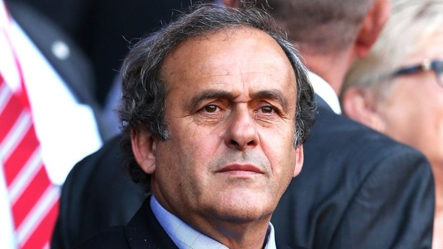 CARDIFF, WALES - SEPTEMBER 06: Michel Platini the President of UEFA watches the action during the UEFA EURO 2016 group B qualifying match between Wales and Israel at Cardiff City Stadium on September 6, 2015 in Cardiff, United Kingdom. (Photo by Dan Mullan/Getty Images)