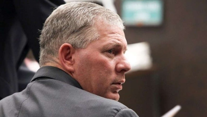 March 2, 2012: former New York Mets outfielder Lenny Dykstra is seen during his sentencing for grand theft auto in the San Fernando Valley section of Los Angeles.