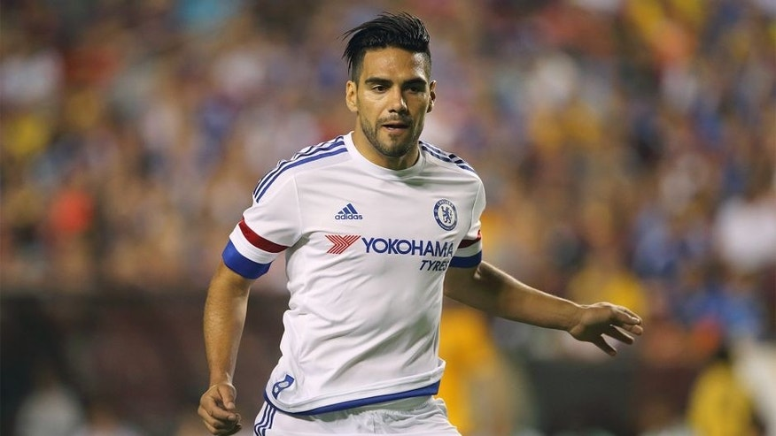 LANDOVER, MD - JULY 28: Radamel Falcao of Chelsea during the International Champions Cup match between Barcelona and Chelsea at FedExField on July 28, 2015 in Landover, Maryland. (Photo by Matthew Ashton - AMA/Getty Images)
