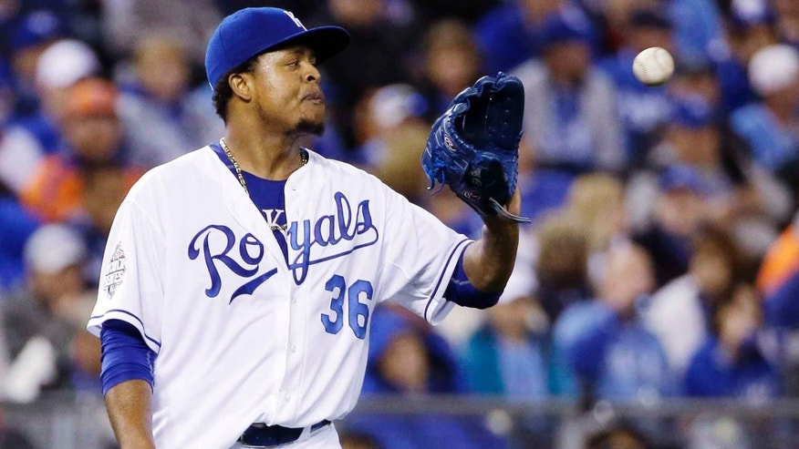 Kansas City Royals pitcher Edinson Volquez.